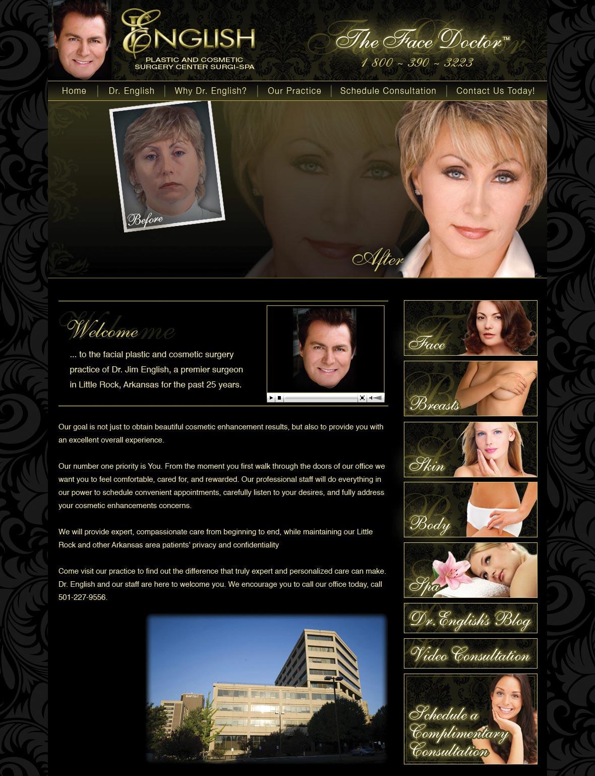 Luxury Cosmetic Surgery Website