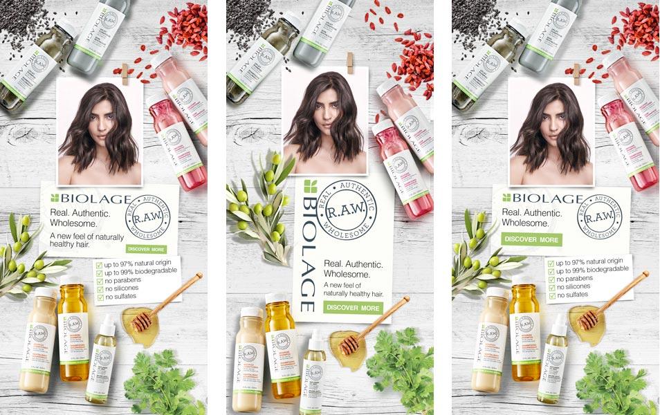L'Oréal / Biolage RAW - Web Banner